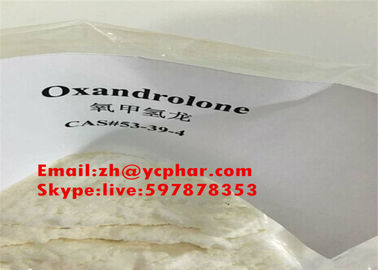 China Bodybuilding Supplements Oxandrolone 53-39-4 White Raw Steroid Powder Anavar supplier
