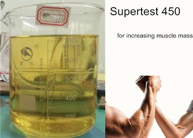 China Supertest 450 Blend Liquid Injectable Anabolic Steroids Premade yellow liquid For Muscle Growth supplier