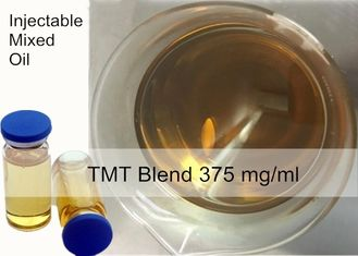 China Semi finished Injectable Steroids TMT Blend 375 mg / ml Mixed Anabolic Steroid Injection yellow liquid supplier
