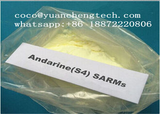 China Andarine SARM Powder Muscle Mass Steroid GTx-007 / S4 yellow powder For Bodybuilding supplier